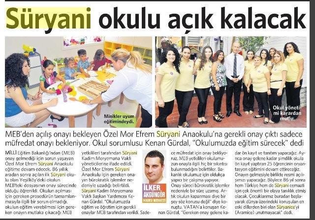 20 Eylül 2014 - Vatan Gazetesi 4. sayfa