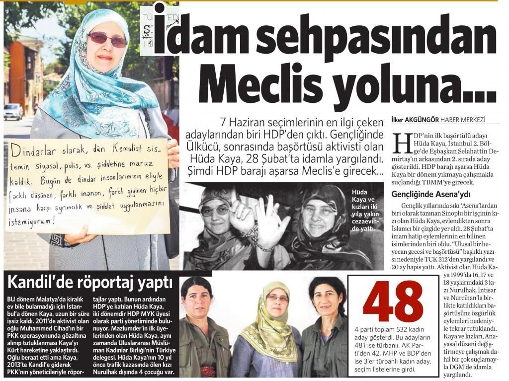 9 Nisan 2015 Vatan Gazetesi 12. sayfa