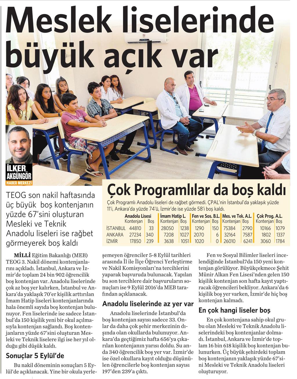 30 Ağustos 2016 Vatan Gazetesi 4. sayfa