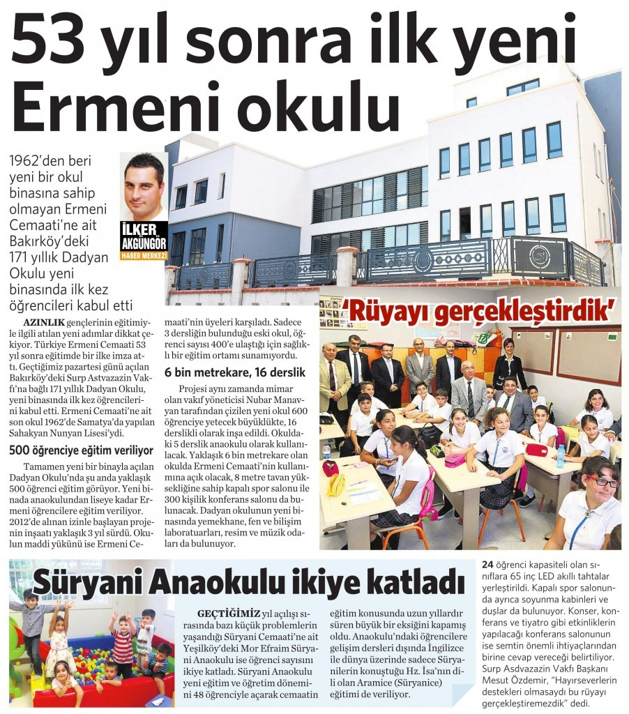 5 Ekim 2015 Vatan Gazetesi 6. sayfa