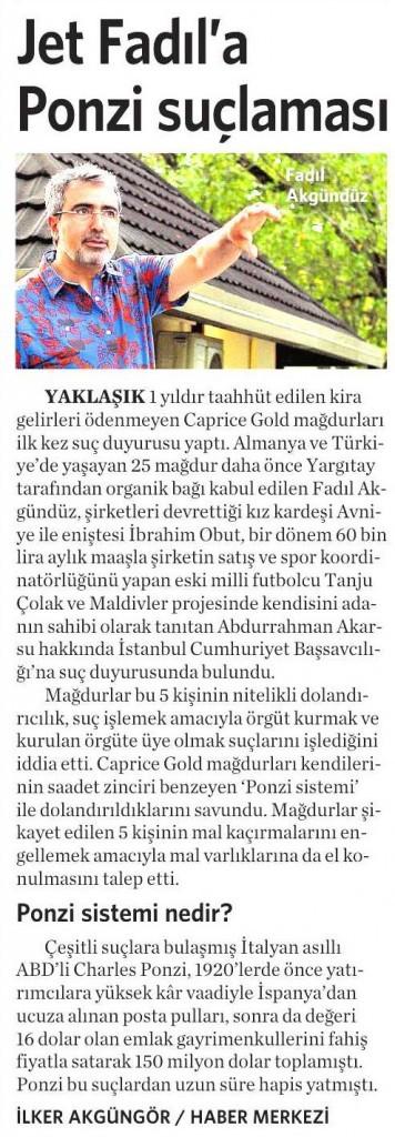 24 Ocak 2015 Vatan Gazetesi 10. sayfa