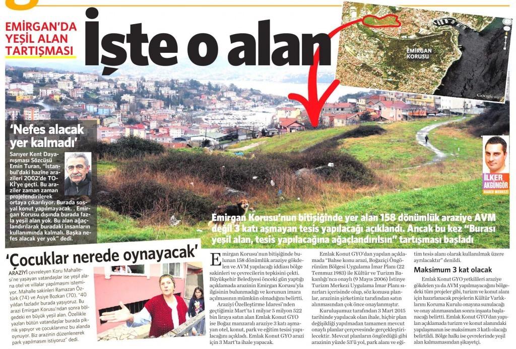 3 Şubat 2015 Vatan Gazetesi 2. sayfa