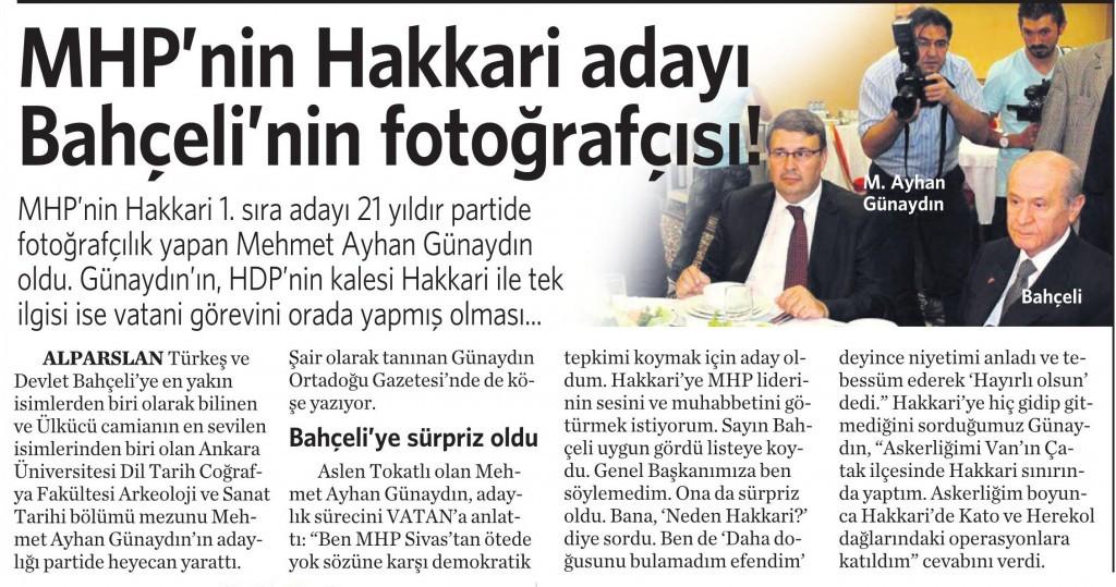 9 Nisan 2015 Vatan Gazetesi 11. sayfa