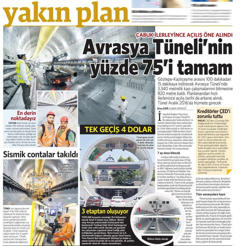 27 Mayıs 2015 Vatan Gazetesi 12. sayfa