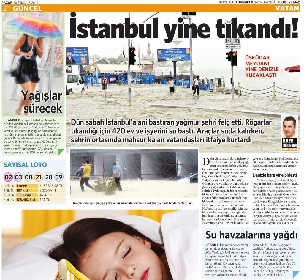 20 Temmuz 2014 - Vatan Gazetesi