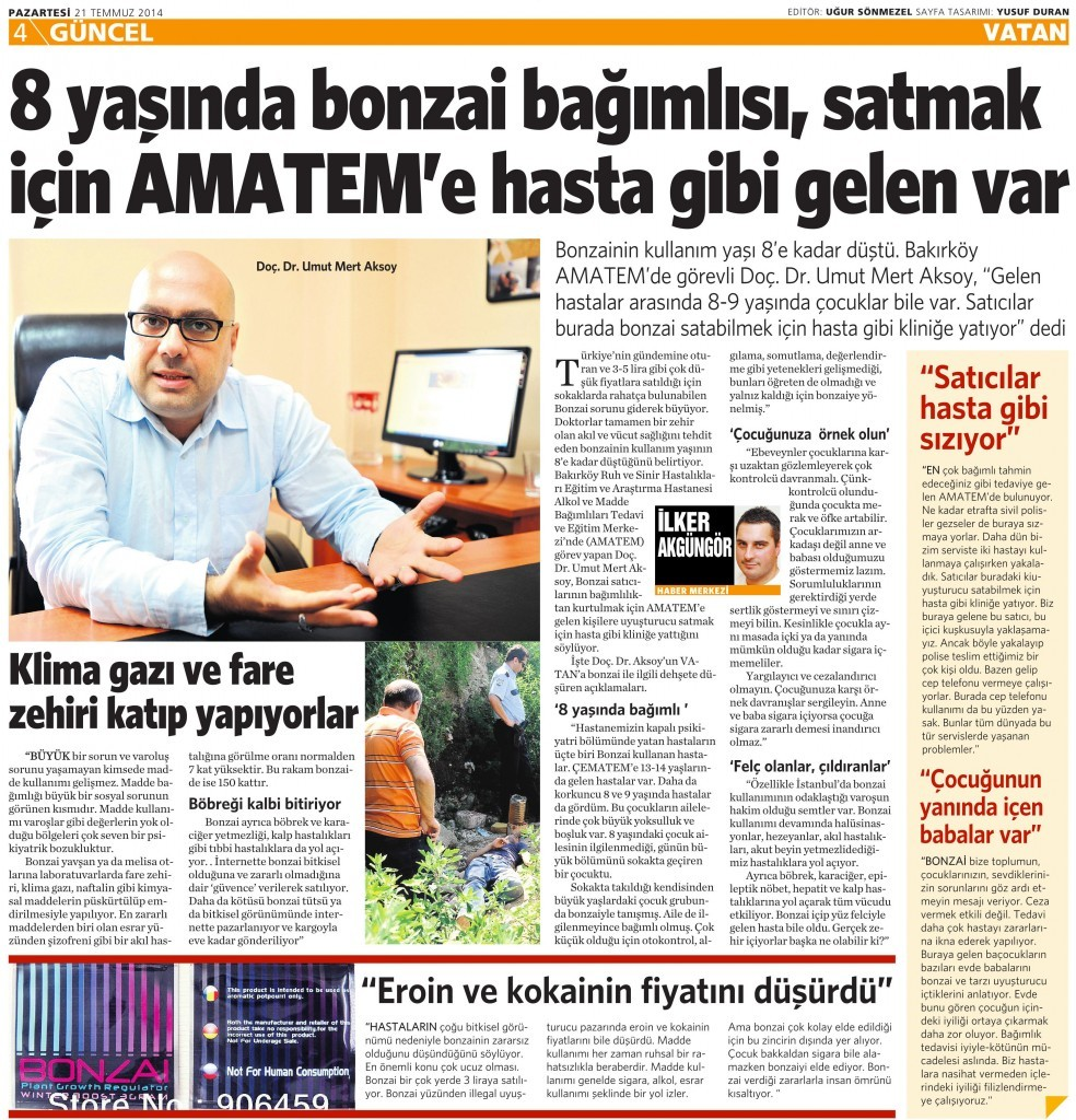 21 Temmuz 2014 - Vatan Gazetesi