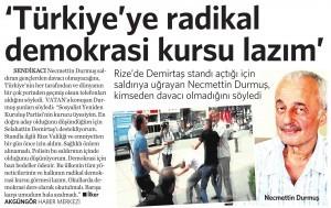31 Temmuz 2014 - Vatan Gazetesi