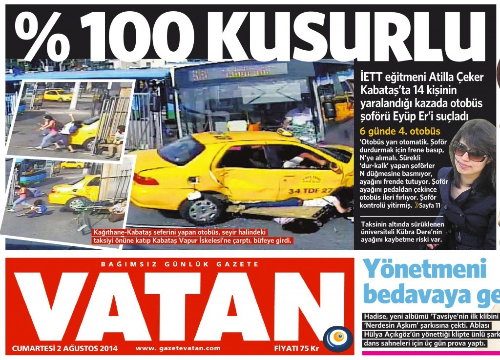 2 Ağustos Vatan Gazetesi