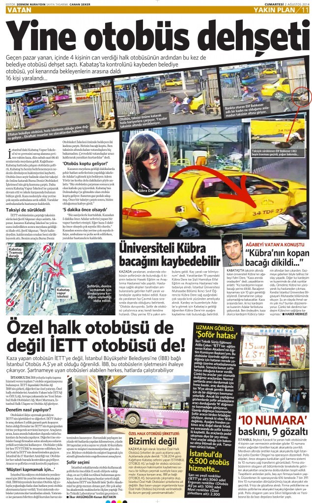 2 Ağustos 2014 - Vatan Gazetesi