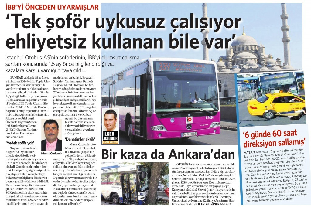 6 Ağuskos 2014 - Vatan Gazetesi