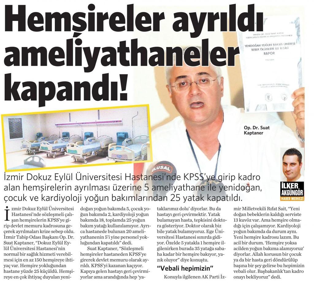 9 Ağustos 2014 - Vatan Gazetesi