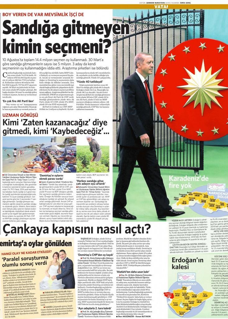 12 Ağustos 2014 - Vatan Gazetesi