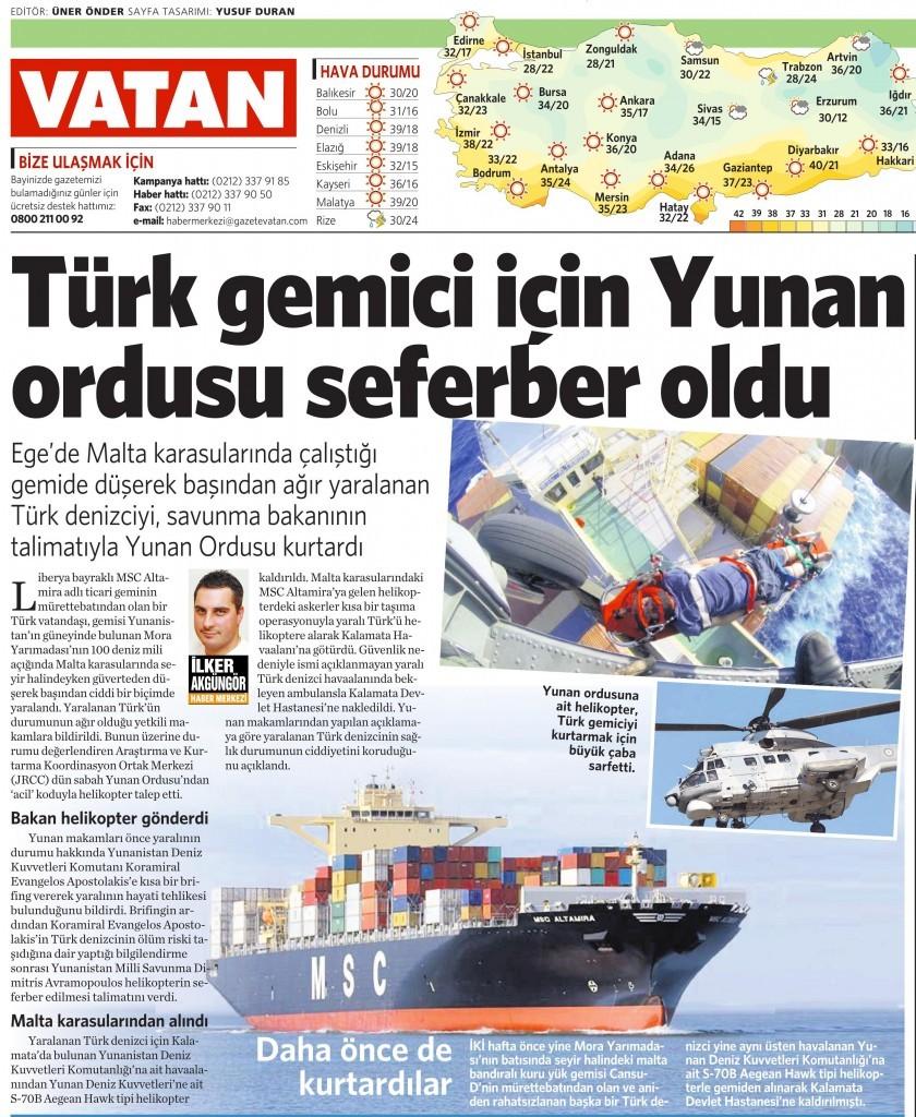 29 Ağustos 2014 - Vatan Gazetesi