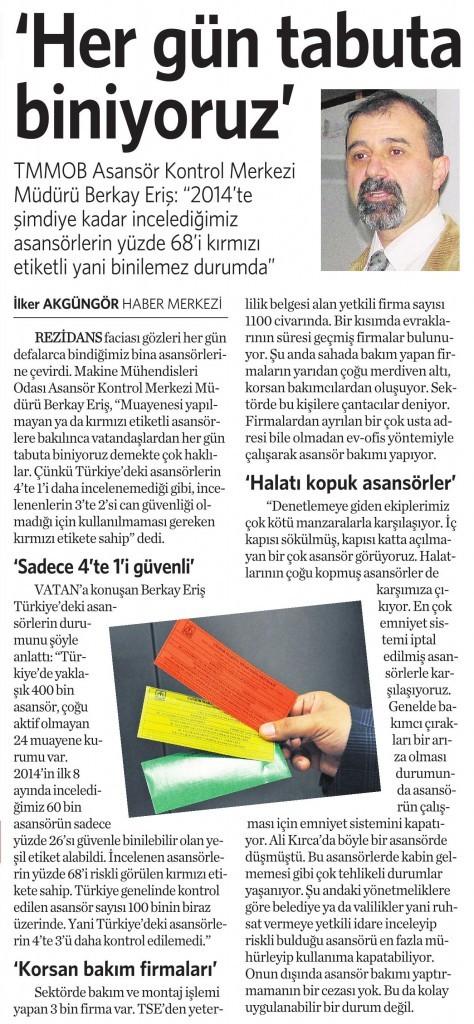 11 Eylül 2014 - Vatan Gazetesi