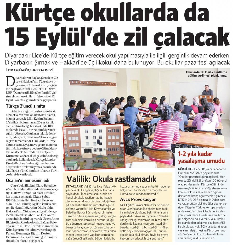 13 Eylül 2014 - Vatan Gazetesi