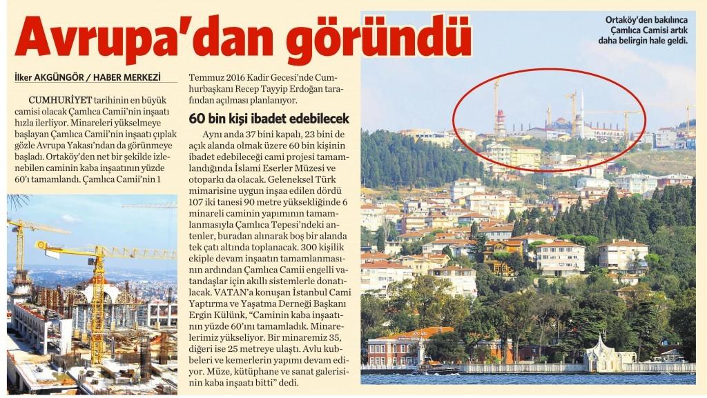 15 Eylül 2014 - Vatan Gazetesi 4. Sayfa