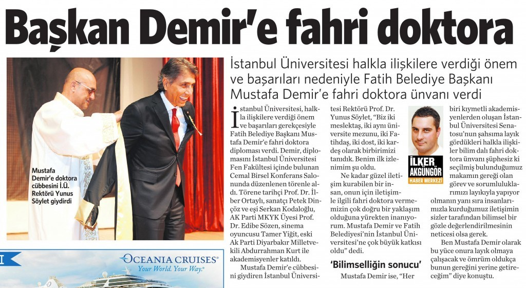 17 Eylül 2014 - Vatan Gazetesi