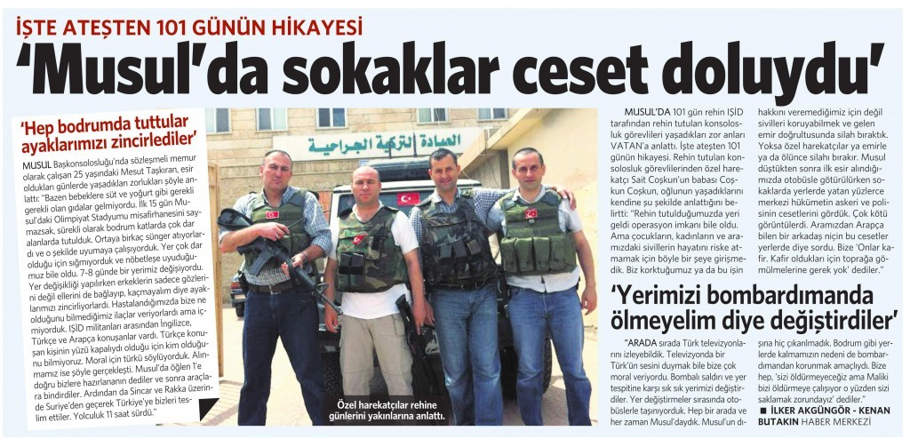 22 Eylül 2014 - Vatan Gazetesi