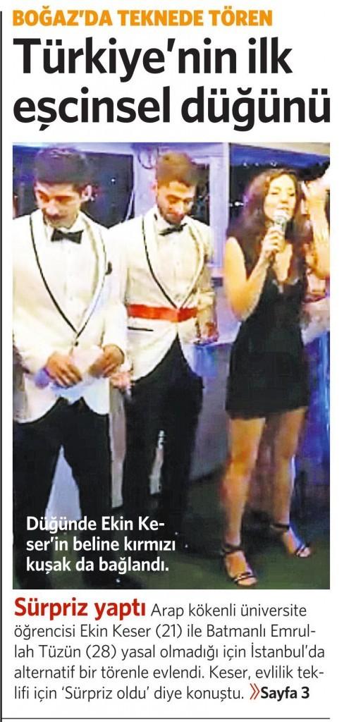 25 Eylül 2014 -Vatan Gazetesi 1. sayfa