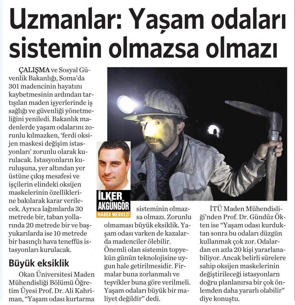 26 Eylül 2014 - Vatan Gazetesi 15. sayfa