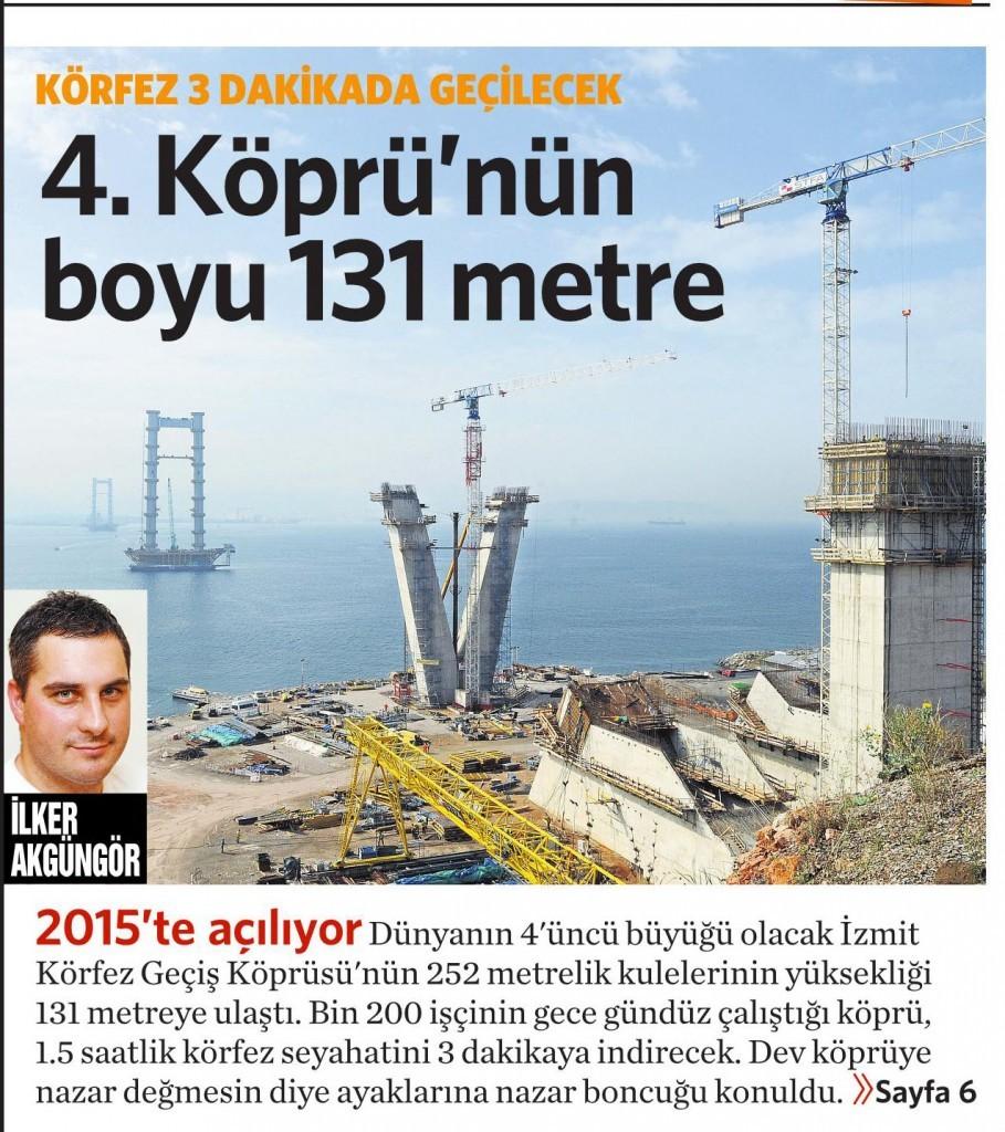 1 Ekim 2014 - Vatan Gazetesi 1. sayfa