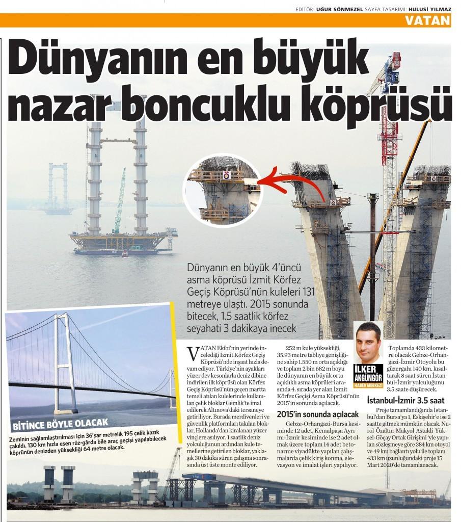 01 Ekim 2014 - Vatan Gazetesi 6. sayfa