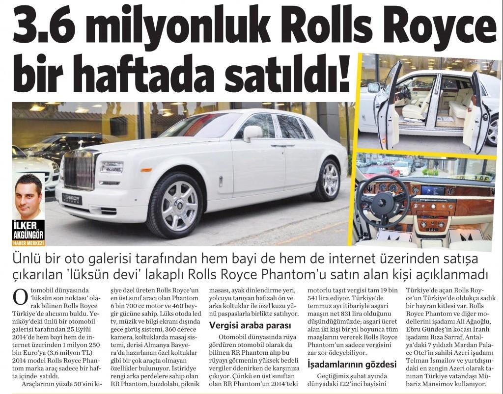 5 Eylül 2014 - Vatan Gazetesi 2. sayfa