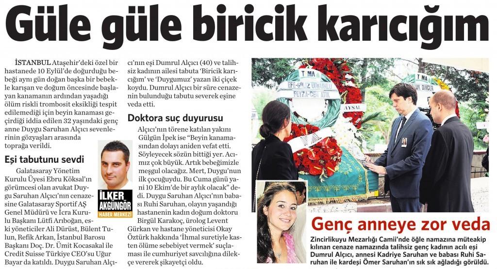 9 Ekim 2014 Vatan Gazetesi 6. sayfa