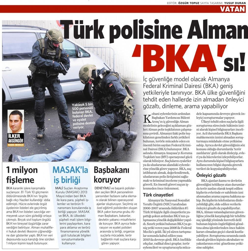 15 Ekim 2014 - Vatan Gazetesi 16. sayfa