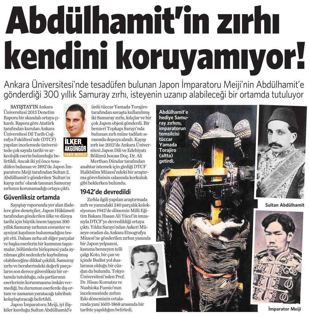 16 Ekim 2014 - Vatan Gazetesi 6. sayfa