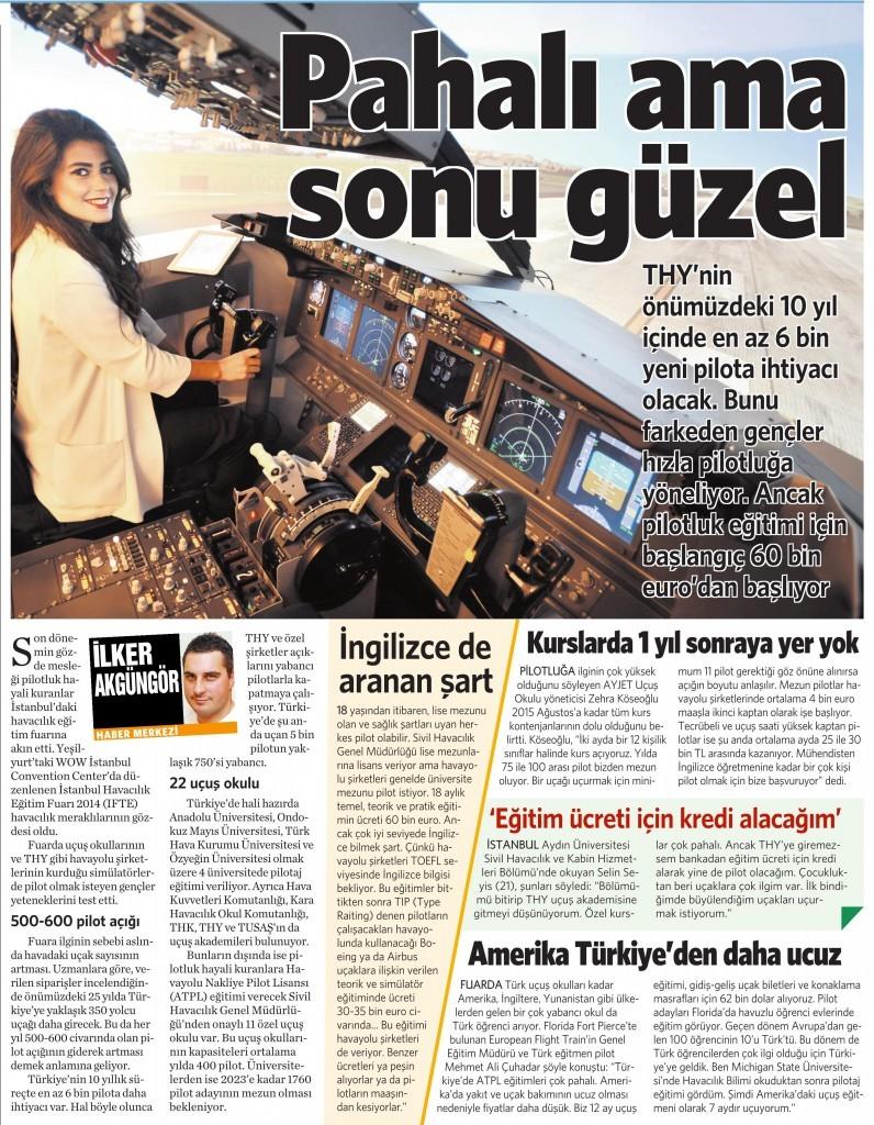 19 Ekim 2014 Vatan Gazetesi 8. sayfa