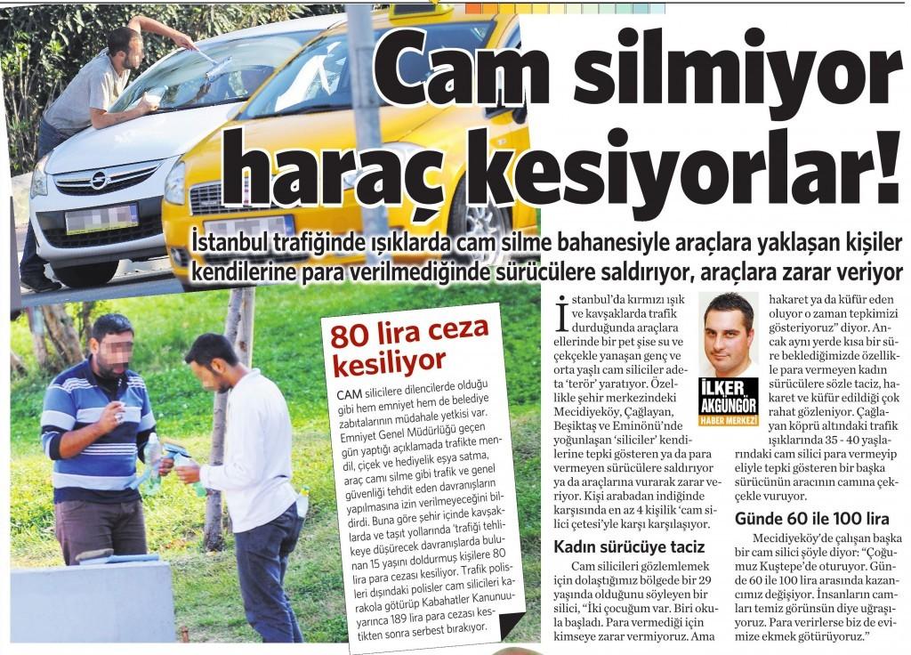 27 Ekim 2014 Vatan Gazetesi 3. sayfa