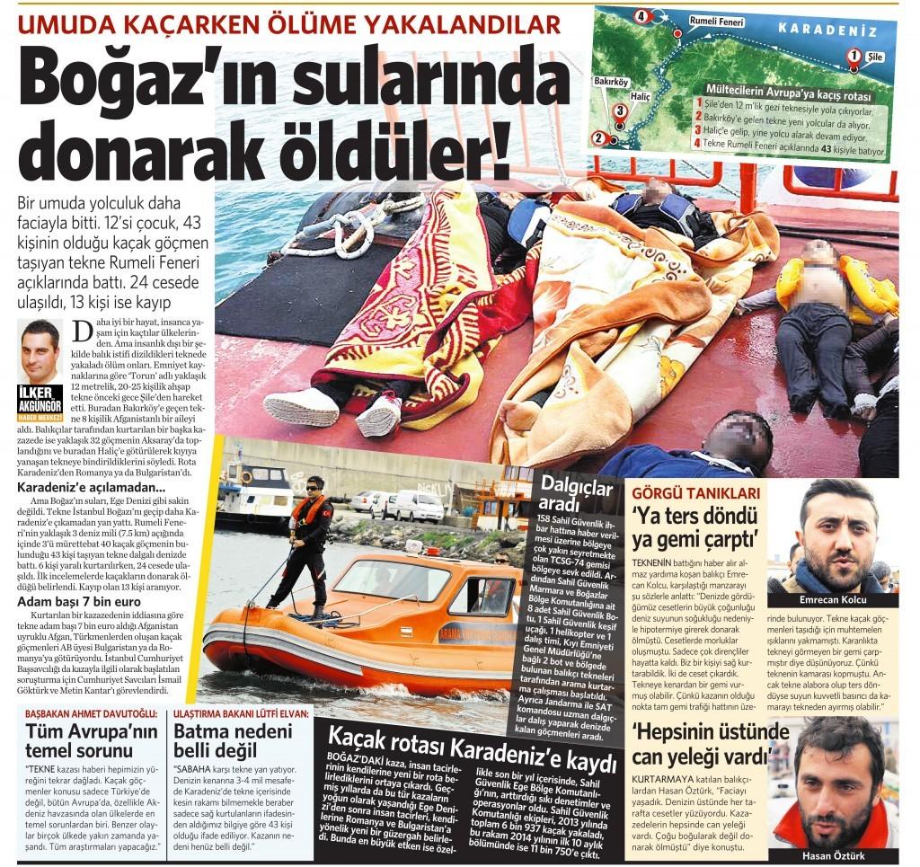 4 Kasım 2014 Vatan Gazetesi 11. sayfa