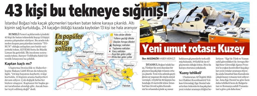 5 Kasım 2014 Vatan Gazetesi 12. sayfa