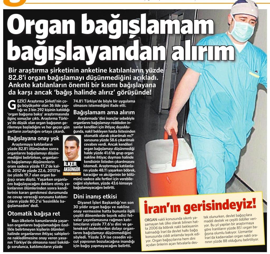 9 Kasım 2014  Vatan Gazetesi 4. sayfa