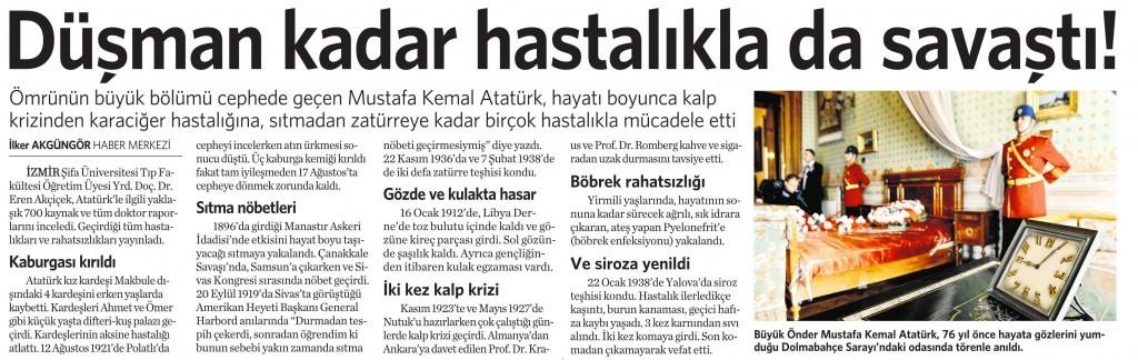 11 Kasım 2014 Vatan Gazetesi 10. sayfa