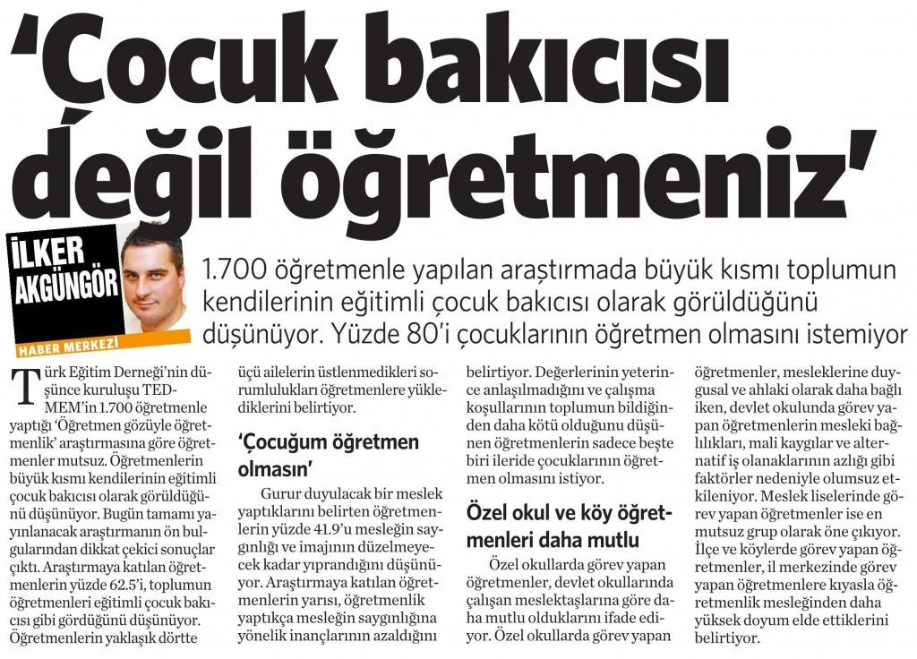24 Kasım 2014 Vatan Gazetesi 4. sayfa