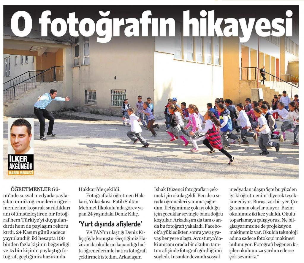 26 Kasım 2014 Vatan Gazetesi 6. sayfa