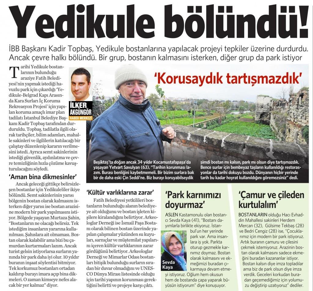 27 Kasım 2014 Vatan Gazetesi 11. sayfa