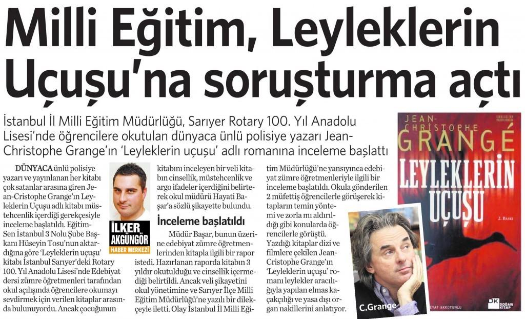 1 Aralık 2014 Vatan Gazetesi 4. sayfa