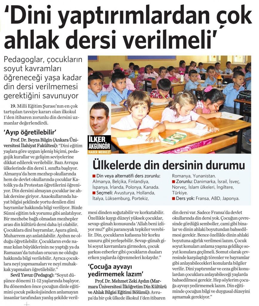 9 Aralık 2014 Vatan Gazetesi 18. sayfa