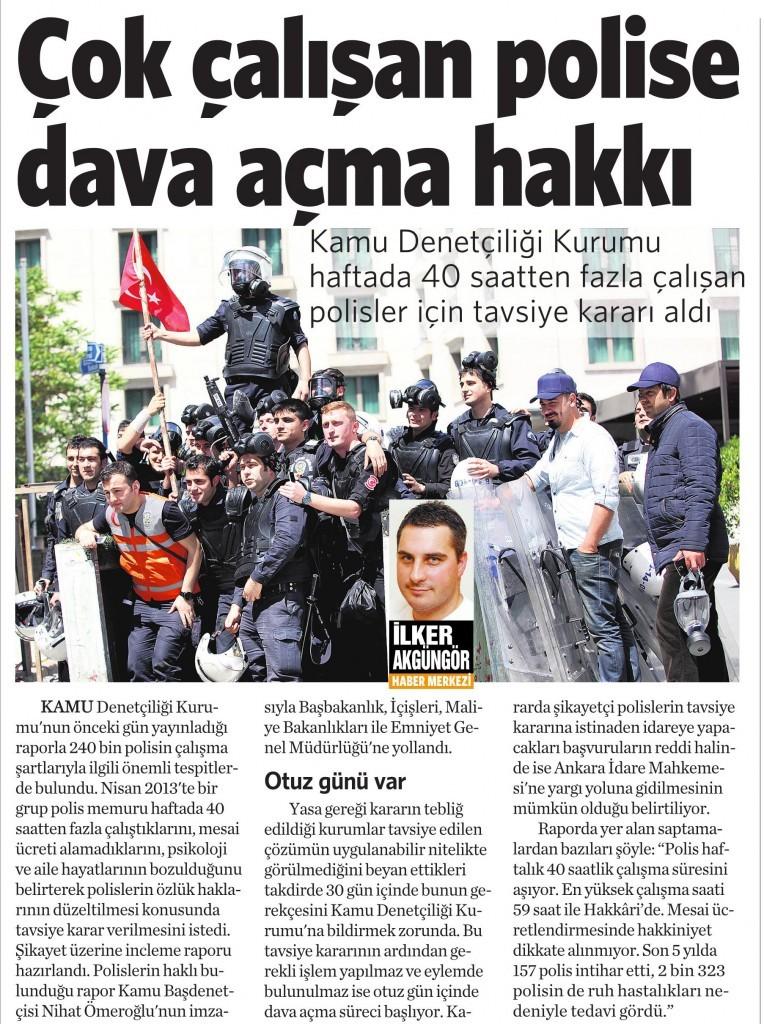 3 Ocak 2014 Vatan Gazetesi 14. sayfa