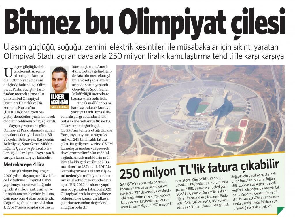6 Ocak 2015 Vatan Gazetesi 2. sayfa