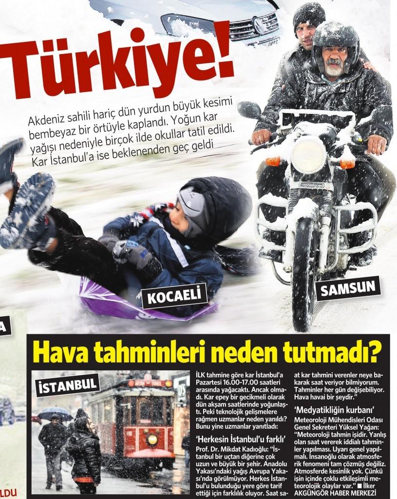 7 Ocak 2015 Vatan Gazetesi 13. sayfa
