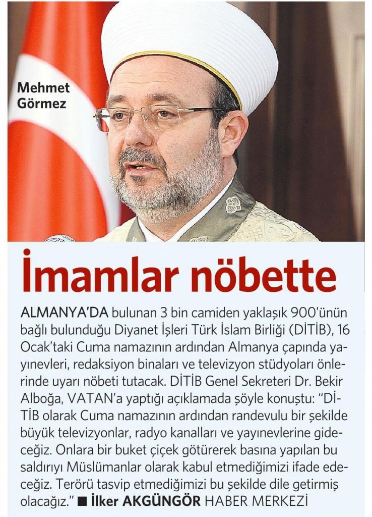 14 Ocak 2015 Vatan Gazetesi 13. sayfa