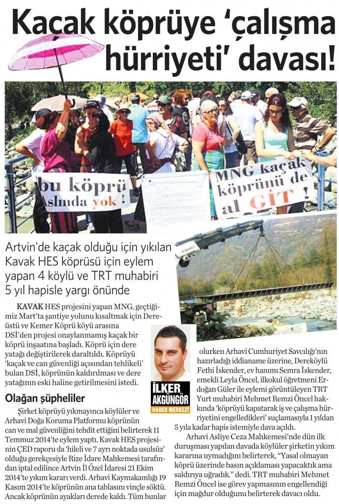23 Ocak 2015 Vatan Gazetesi 4. sayfa
