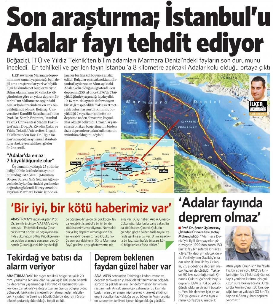 28 Ocak 2015 Vatan Gazetesi 7. sayfa