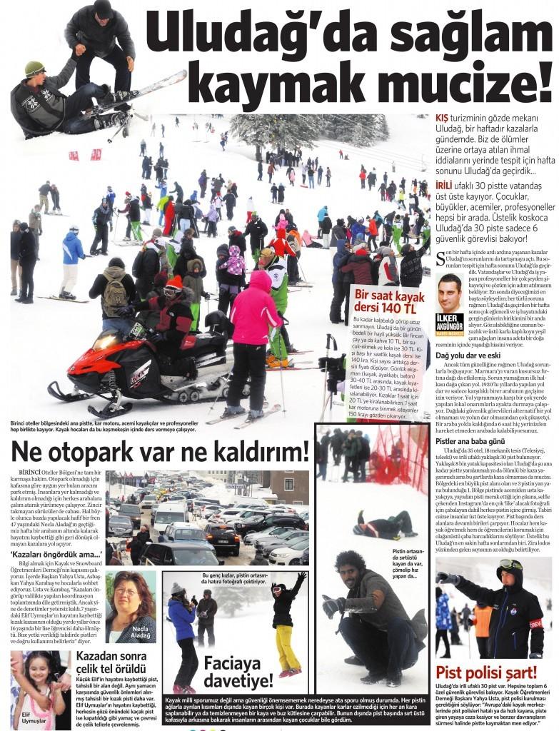 02 Şubat 2015 Vatan Gazetesi 13. sayfa