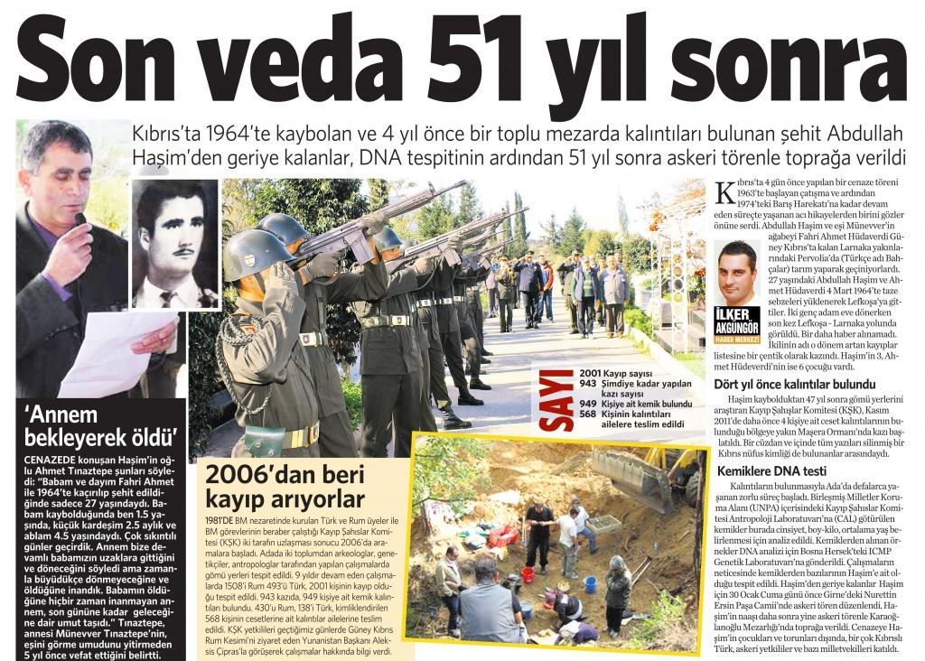 5 Şubat 2015 Vatan Gazetesi 13. sayfa