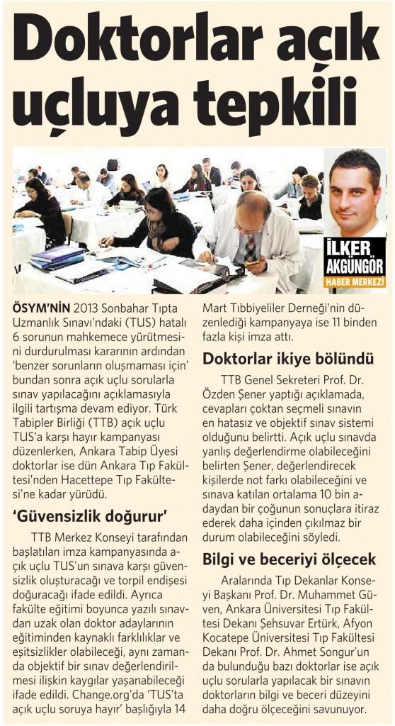 6 Şubat 2015 Vatan Gazetesi 6. sayfa